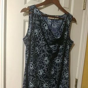 Expression Sleeveless Navy with Light Blue Floral